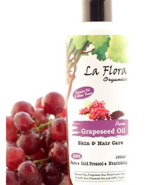 La Flora Organics Pure Grapeseed Oil Skin & Hair Care - 100 ml