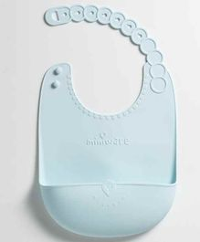Miniware Roll and Lock Silicone Bib - Aqua Blue