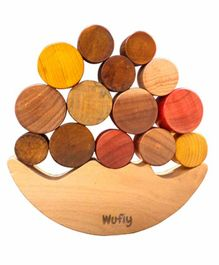 Wufiy Wooden Moon Balancing Game - Multicolour