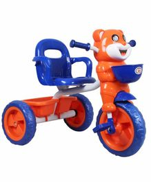 HLX-NMC Happy Tiger Tricycle with Lights and Music - Orange Blue