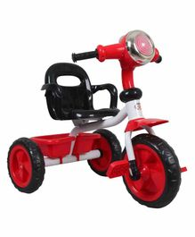 HLX-NMC Cruiser Bike Style Tricycle With LED Lights & Music - Red Black