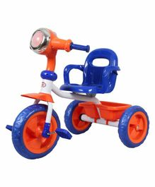 HLX-NMC Cruiser Bike style Tricycle with LED Lights & Music - Orange Blue