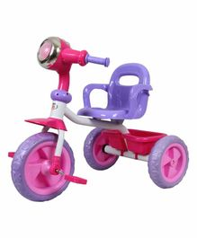 HLX-NMC Cruiser Bike style Tricycle with LED Lights & Music - Pink Purple