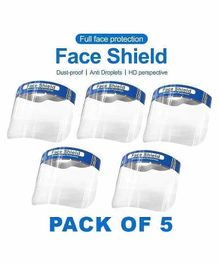 MCP Face Shield Mask Pack of 5 - Blue