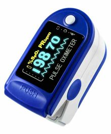 MCP Fingertip Advanced OLED Type Pulse Oximeter - Blue