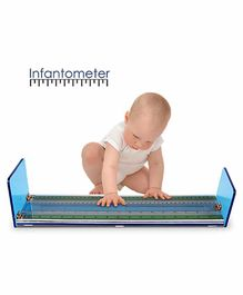 MCP Black Acrylic Infantometer Height Measuring Scale - Blue