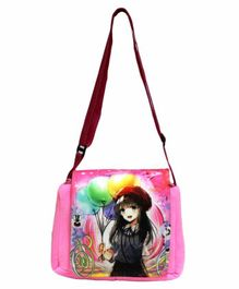 Hello Toys Sling Bag Cartoon Print - Pink