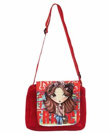 Hello Toys Sling Bag Doll Print - Red