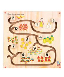Skillofun Wooden Maze Chase Number Game