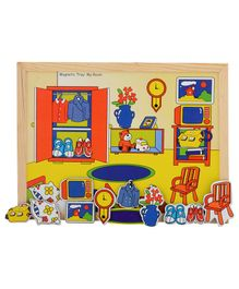 Wooden And Magnetic Twin Play Tray - The Room