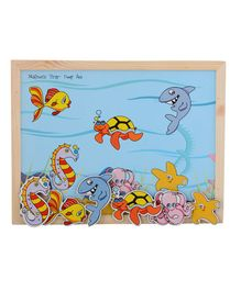 Skillofun - Wooden And Magnetic Twin Play Tray Deep Sea
