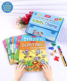 Babyhug First Step to Big Learning Activity Champ Books Set of 10 - English