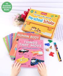Babyhug First Step to Big Learning Pre-school Scholar Books Set of 10 - English