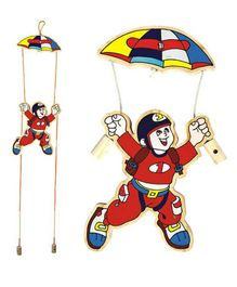 Achievers - Wooden Para Jumper And The Parachute