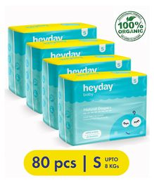 Heyday Natural & Organic Small Baby Diapers Pack of 4 - 80 Pieces