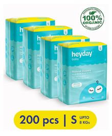 Heyday Natural & Organic Small Baby Diapers Pack of 4 - 200 Pieces