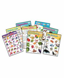 Sterling 16 in 1 Early Learning Charts - Multicolor
