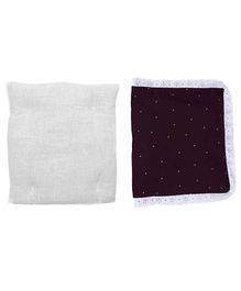 Grandma's Premium Finger Millet Cotton Pillow with Cover Polka Dot Print - Dark Purple