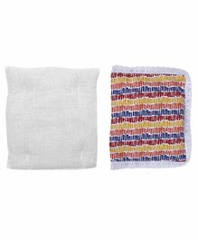 Grandma's Premium Finger Millet Cotton Pillow with Printed Cover - Multicolor
