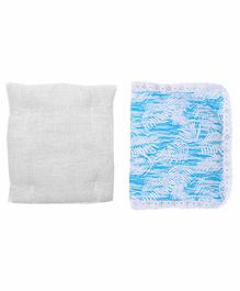 Grandma's Premium Finger Millet Cotton Pillow with Cover - Blue