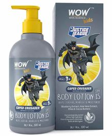 WOW Skin Science Caped Crusader Batman Edition Kids Body Lotion SPF 15 - 300 ml
