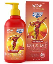 WOW Skin Science Red Speedster Flash Edition Kids Body Lotion SPF 15 - 300 ml