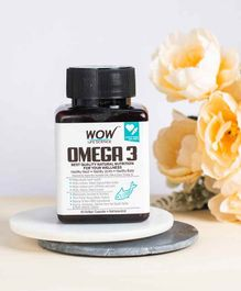 Wow Life Science Omega-3 Fish Oil Capsules - 60 Capsules