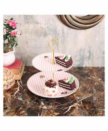 Quirky Monkey 2 Tier Cake Stand - Pink