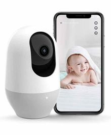 Nooie 360 Degree Baby Cam 1080P WiFi Baby Monitor Camera - White