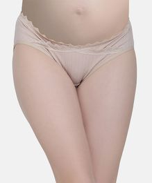 MAMMA PRESTO Lacy Low Rise Maternity Panty - Beige