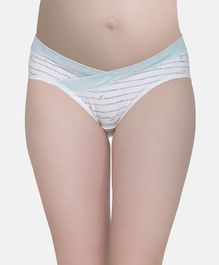 MAMMA PRESTO Printed Low Rise Maternity Panty - Blue