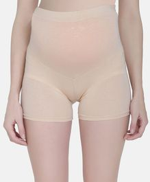 MAMMA PRESTO Solid High Waist Maternity Panty - Beige