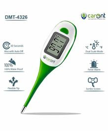 Carent Waterproof Premium Digital Thermometer with Fever Alarm - Green