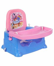NHR Baby Booster Seat with Adjustable Tray- Blue Pink