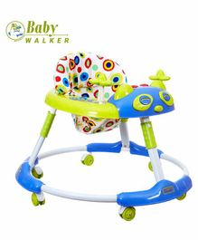 Dash Stylish Baby Walker with Music - Blue Green