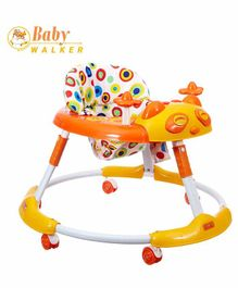 Dash Stylish Baby Walker with Music - Yellow Orange