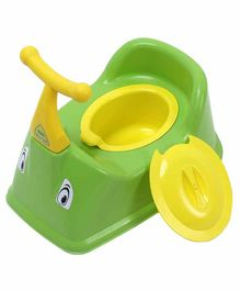NHR Baby Potty Chair With Handles & Lid - Green Yellow