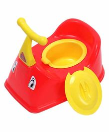 NHR Baby Potty Chair With Handles & Lid - Red Yellow