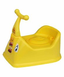 NHR Baby Potty Chair With Handles & Lid -  Yellow