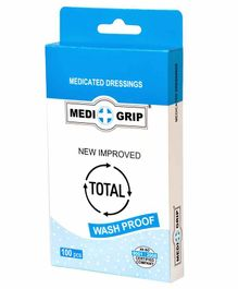 Medigrip Medicated Wash Proof Bandage - 100 Pieces