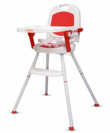 Little Pumpkin Kiddie Kingdom 3 In 1 Foldable High Chair - Red