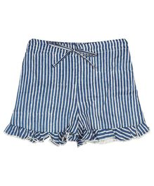 Ikeda Designs Striped Shorts - Blue