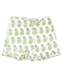 Ikeda Designs Floral Print Shorts - White