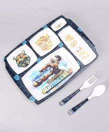 Transformers Kids Feeding Set Blue - 3 Pieces