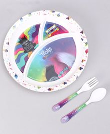 Trolls Kids Feeding Set Multicolor - 3 Pieces