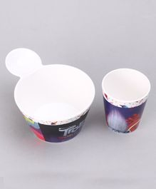 Trolls 2 Piece Fries Bowl & Glass Set - Black Purple
