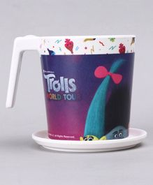 Trolls Large Cup with Coaster - Purple