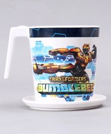 Transformers Large Cup with Coaster - White