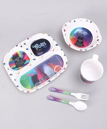 Trolls Kids Feeding Set Multicolor - 5 Pieces