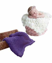 Babymoon Photography Knitted Blanket Prop - Purple
